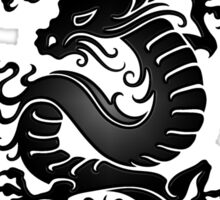 Black Chinese Dragon on Red Sticker
