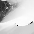 Mountaineers on Mont Blanc by Asher Haynes