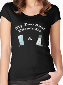 My Two Best Friends: Salt and Water Women's Fitted Scoop T-Shirt