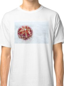Ornate Christmas Bauble With Snow Classic T-Shirt