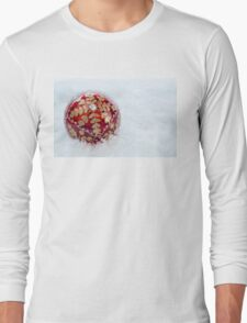 Ornate Christmas Bauble With Snow Long Sleeve T-Shirt