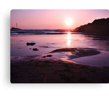 Sunset in Bude Canvas Print