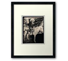 "1908 Photo of Francisco ""Pancho"" Villa on Horseback Framed Print"