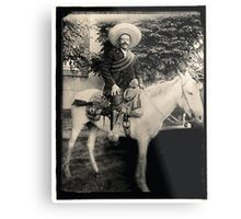 "1908 Photo of Francisco ""Pancho"" Villa on Horseback Metal Print"