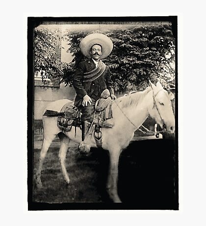 "1908 Photo of Francisco ""Pancho"" Villa on Horseback Photographic Print"
