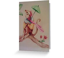 Monkey Mural Greeting Card
