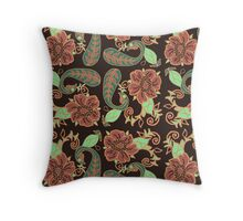 Complementary Floral Throw Pillow