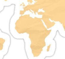 Simple Orange World map Sticker