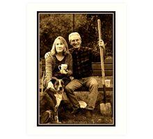 My Parents & Sobe Art Print