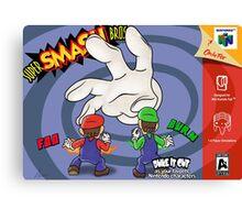 Super Smash Bros Mario and Luigi Canvas Print