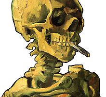 "Vincent Van Gogh - ""Skull of a Skeleton with Burning Cigarette"" by ModularMork"