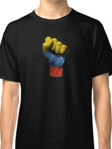 Flag of Venezuela on a Raised Clenched Fist  Classic T-Shirt