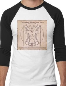 Vitruvian Gingerbread Man Men's Baseball ¾ T-Shirt