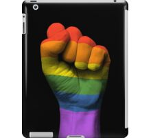 Gay Pride Rainbow Flag on a Raised Clenched Fist  iPad Case/Skin