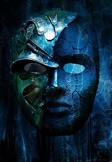 Steampunk half mask by John Ryan