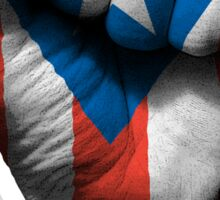 Flag of Puerto Rico on a Raised Clenched Fist  Sticker