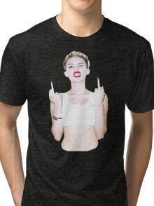 Sexy Miley Cyrus Tri-blend T-Shirt