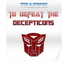 Training to Defeat the Decepticons Poster