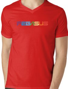 Peg-ASUS Rainbow Mens V-Neck T-Shirt