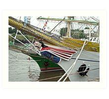 "Figurehead Romania ship ""MIRCEA"" Art Print"