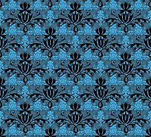 Fleurette~Black, Blue, & Two Greys by Larry McFarland