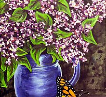 still life study Flowers 1 by Rachelle Dyer