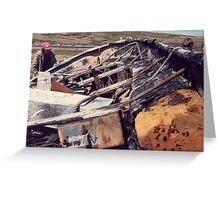 Sir Galahad Lifeboat, Falkland islands, 1984 Greeting Card