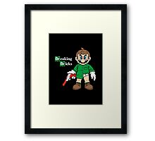 Breaking Bricks Framed Print