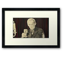 Peter Cushing in mixed media Framed Print