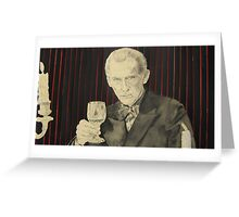 Peter Cushing in mixed media Greeting Card