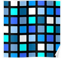 Blue Cube Patterns  Poster