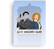 Sci-fi Innuendo Squad Canvas Print