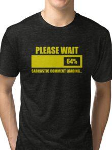 Please Wait... Sarcastic Comment Loading Tri-blend T-Shirt