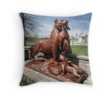 Bringing home the bacon, or is it turkey? (statue) Throw Pillow