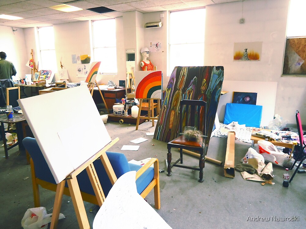 Community Artists Work Space. by Andy Nawroski
