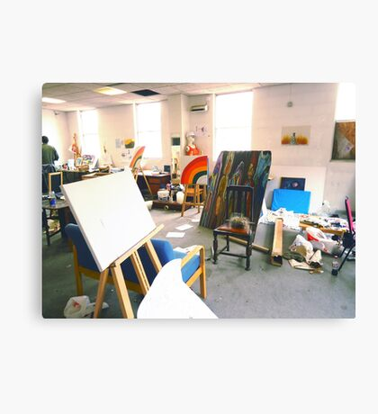 Community Artists Work Space. Canvas Print