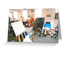 Community Artists Work Space. Greeting Card