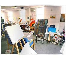 Community Artists Work Space. Poster