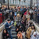 Delays at Oxford Circus Tube Station by Abtin Eshraghi
