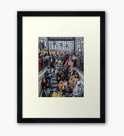 Delays at Oxford Circus Tube Station Framed Print
