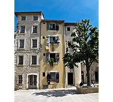 tall houses in Vence Photographic Print