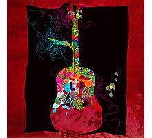 graphic guitar Photographic Print