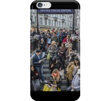 Delays at Oxford Circus Tube Station iPhone Case/Skin