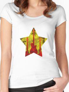 Rockstar guitar Women's Fitted Scoop T-Shirt