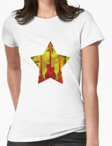 Rockstar guitar Womens Fitted T-Shirt
