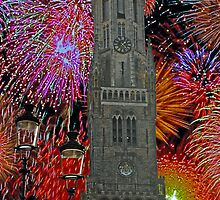Fireworks over Bruges by Tony Jones