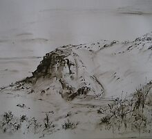 Hallett Cove - Pen and Spit by Kay Cunningham