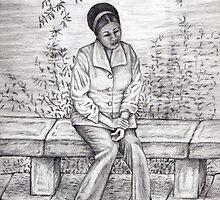 Daydream pencil sketch by Arianey