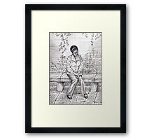 Daydream pencil sketch Framed Print
