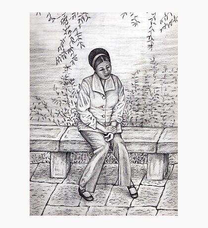 Daydream pencil sketch Photographic Print